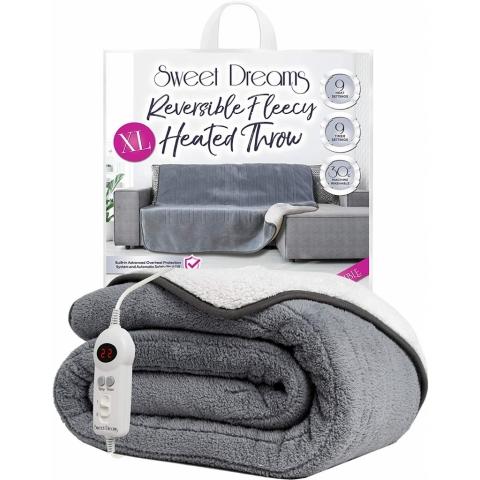 Sweet Dreams - Electric Heated Grey XL Throw