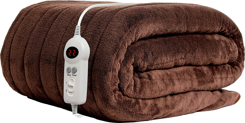 Homefront chocolate heated throw
